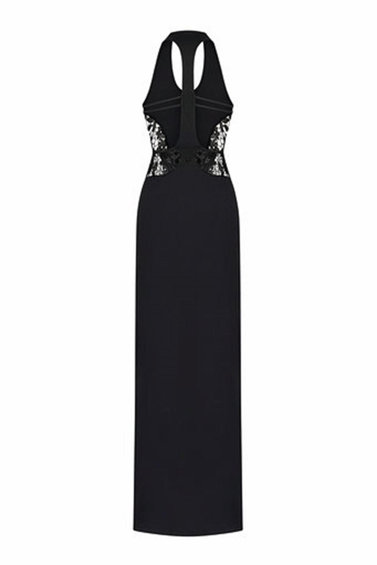 Dantel Detaylı Maxi Elbise