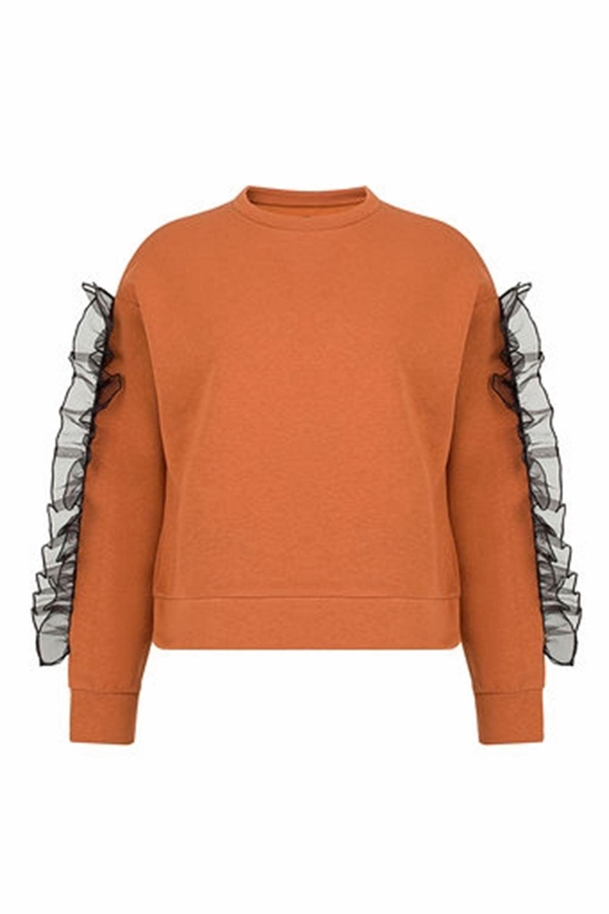 Organze Detaylı Sweatshirt
