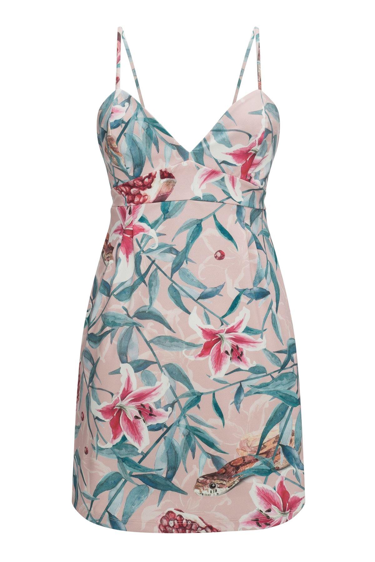 Pomegranate Mini Dress