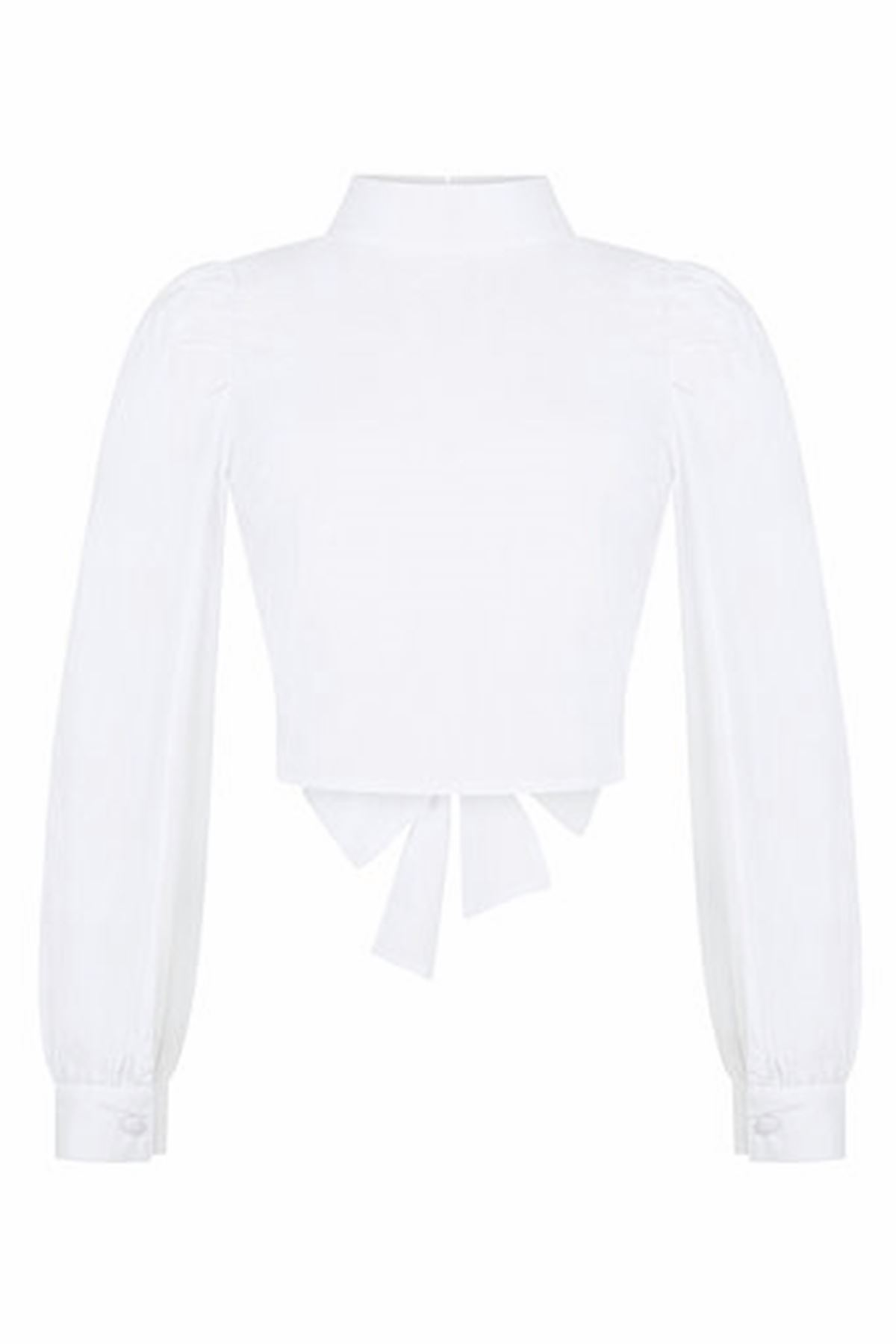 White Back Detailed Top
