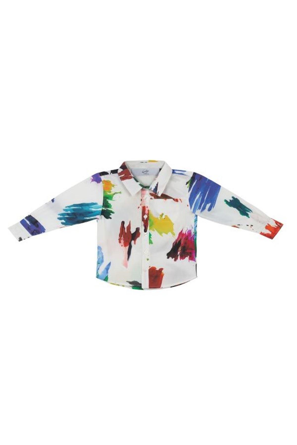 Çocuk Watercolor Gömlek